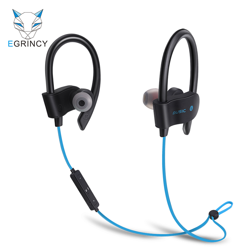 EGRINCY 56S Sport In-Ear Wireless Bluetooth Earphone Stereo Earbuds Headset Bass Earphones With Mic For iPhone iPad Samsung MP3