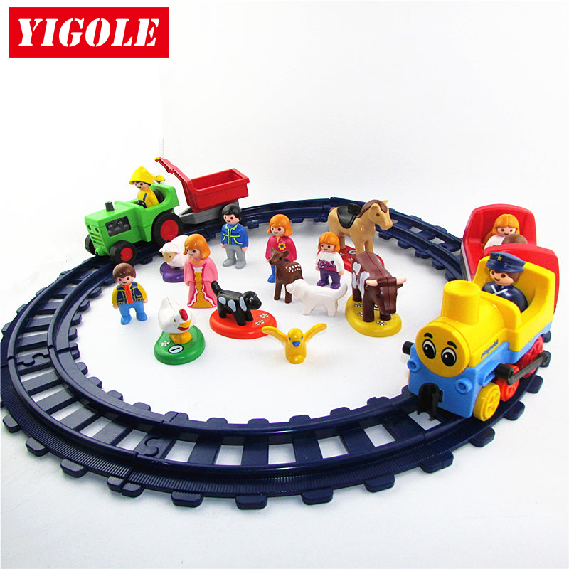 Single One Sales Original Playmobil Track Train Car Agricultural Vehicles Action Figures Kids Best Toys Birthday Gift on stock new super thomas small train electric track car boy puzzle large car racing for children s christmas gift kids toys