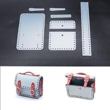 Поделки из кожи мини сумка маленький портфель кулон вышивка шаблон ПВХ шаблон