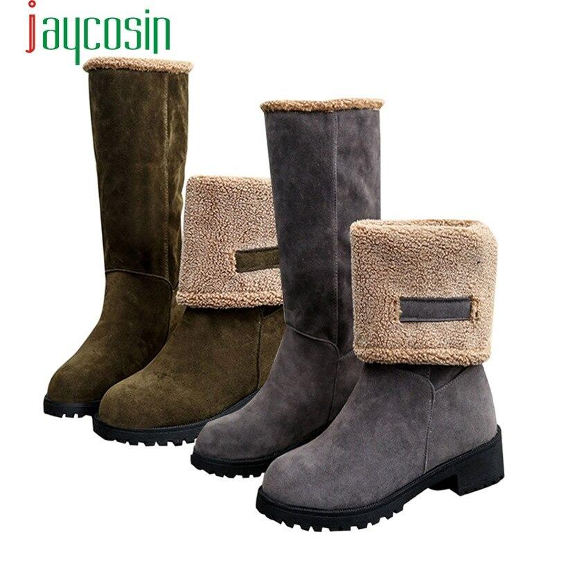 Hot Sale Fashion Ladies Women Boots Flat  Winter Warm Snow Shoes wholesale Mo04
