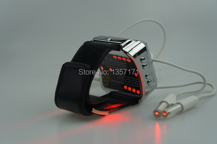 Wholesale wrist acupuncture laser machine to reduce high blood fat , high cholesterol and blood pressure hot sale wrist type laser watch istrument to reduce high sugar blood health