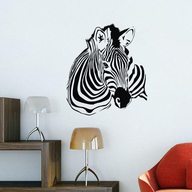 Zebra Wall Decals Bedroom Vinyl Home Decoration Accessories Animals  Children Wall Sticker For Interior