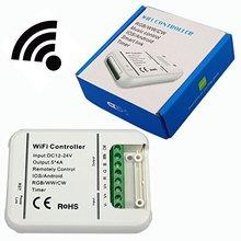 Original de 16 Milhões de cores Wi-fi 5 canais RGB/WW/CW levou música eo modo de temporizador de controle controlador de smartphones wifi controlador de led