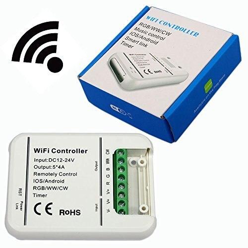 Originale 16 Milioni Di colori Wifi 5 canali RGB/WW/CW ha condotto il regolatore smartphone controllare la musica e la modalità timer wifi ha condotto il regolatore