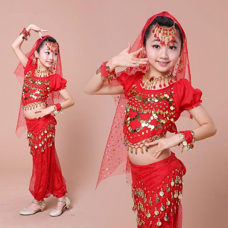 Best Seller 2017 New Children Indian Dance Costume 3 Colors Girls