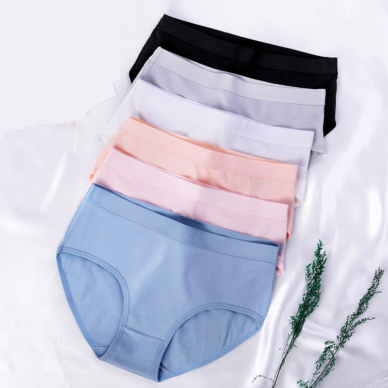 Winter new women's underwear modal cotton waist triangle briefs women's high quality cotton hip solid color women's   Panties