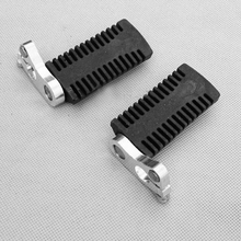 1 Pair 12mm Motorcycle Foot Peg Rest Pedals Floor Boards Compatible with 43cc 47cc 49cc Mini Moto Pocket Bike Etc