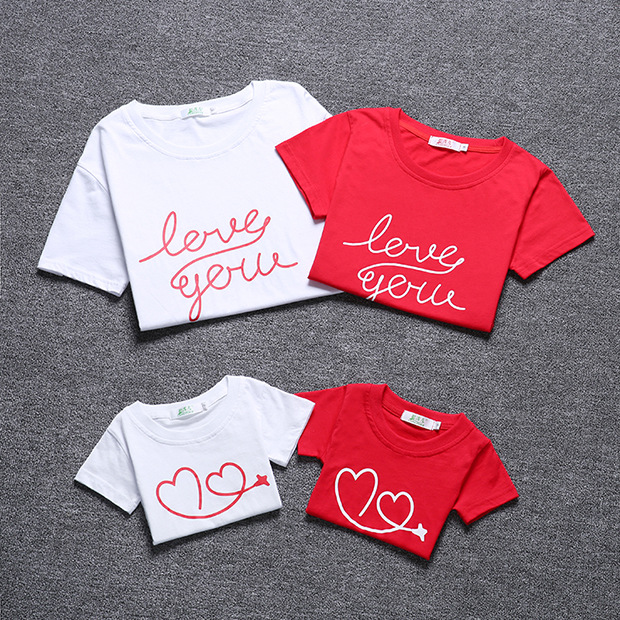 2018 новая футболка с буквенным принтом для семьи Обувь для мальчиков Обувь для девочек ребенок мать отец с коротким рукавом Хлопок Семья Фут... ...