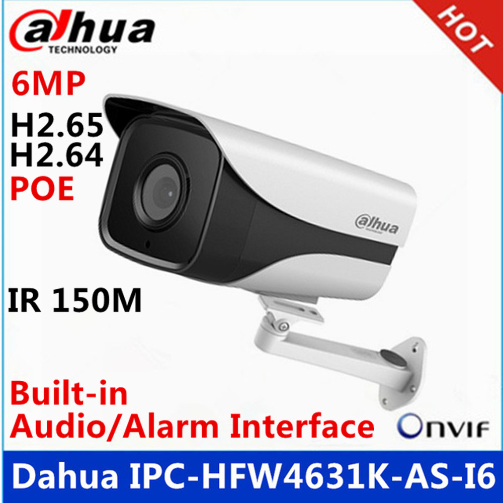 Enthusiastic Dahua Ipc-hfw4631k-as-i6 6mp Ip Camera Built-in Sd Card Slot & Audio & Alarm Interface Ip67 Ir150m Poe Gun Camera With Bracket Reasonable Price Surveillance Cameras Back To Search Resultssecurity & Protection