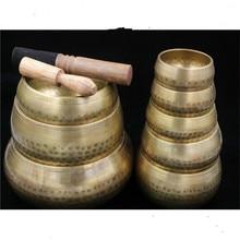 8cm,8.5cm 9.5cm,11cm,12cm Copper Buddha Sound Bowl  Yoga Tibetan Singing Religion Belief Buddhist Supplies Home Decoration