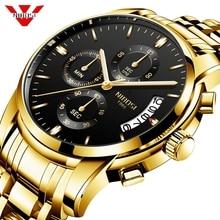 NIBOSI Mannen Horloge Quartz Heren Horloges Top Brand Luxe Chronograaf Sport Horloge Mannen Militaire Klok Saat Relogio Masculino