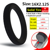 16*2.125 inches solid tire for bicycle and bike tire 16x2.125 with mountain bike tires
