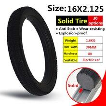 16*2,125 дюйм(ов) твердые шины для велосипедов и велосипедов шины 16×2,125 с шины для горных велосипедов