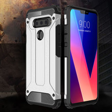 Shockproof Armor Coque Cover 6.2For LG V40 untuk LG V40 Thinq Telepon Kembali Coque Cover Case(China)