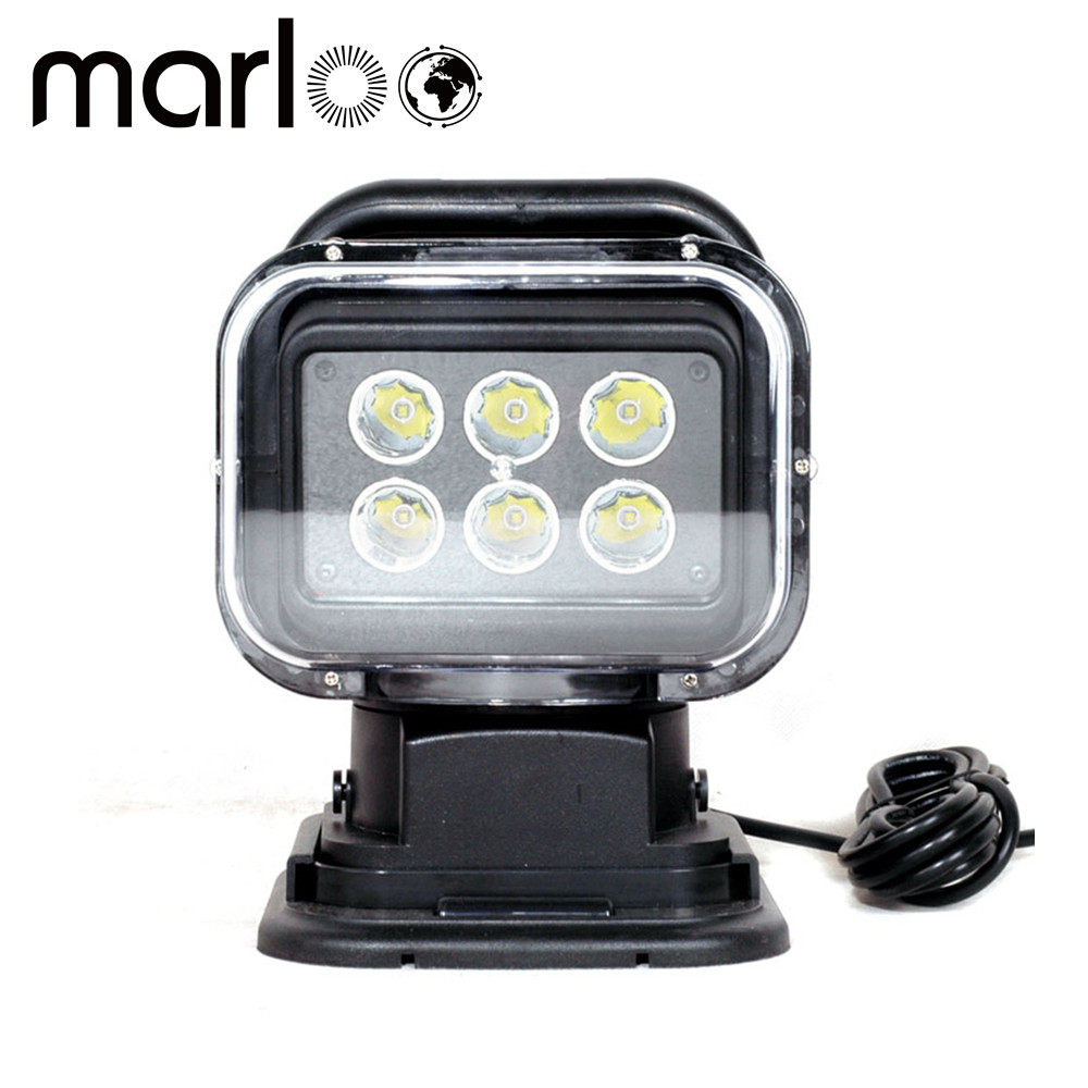 цена на Marloo IP67 10-30V Remote control LED Searchlight 7inch 30W Spot LED Work Light TRUCK SUV BOAT MARINE Remote control light