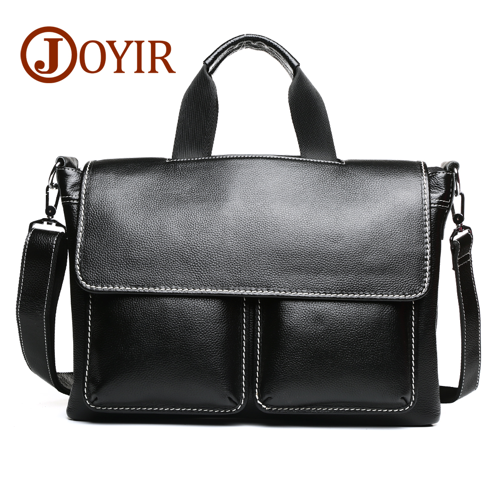 JOYIR Men's Shoulder Bag Male Briefcase Genuine Leather Business Bag Casual Tote Bags Vintage Travel 14 Laptop Bags For Men cossloo promotion authentic brand composite leather bag men s travel bags casual male shoulder briefcase for business man