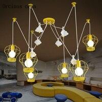 Мультфильм декоративные шары подвесные лампы для ресторана для школьного Кабинета, детского сада детская комната лампа простой паук подве