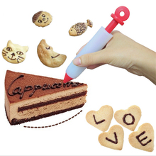 DIY Dessert Decorator Pen Silicone Mold Sugar Craft Fondant Cake Decorating Kitchen Baking Tool 14.7x2.3cm diy 3d beatiulty flower silicone fondant mold sugar craft cake decorating embossing mold bakery baking tools