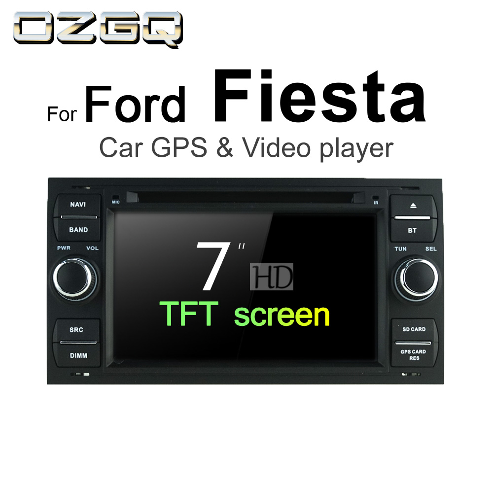 hight resolution of ozgq android 7 1 car dvd player for ford fiesta 2002 2008 screen auto gps navigation