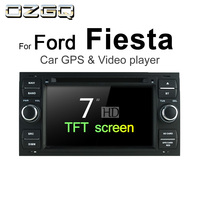 OZGQ Android 7.1 Car DVD Player For Ford Fiesta 2002 2008 Screen Auto GPS Navigation Bluetooth Radio TV Audio Video Stereo