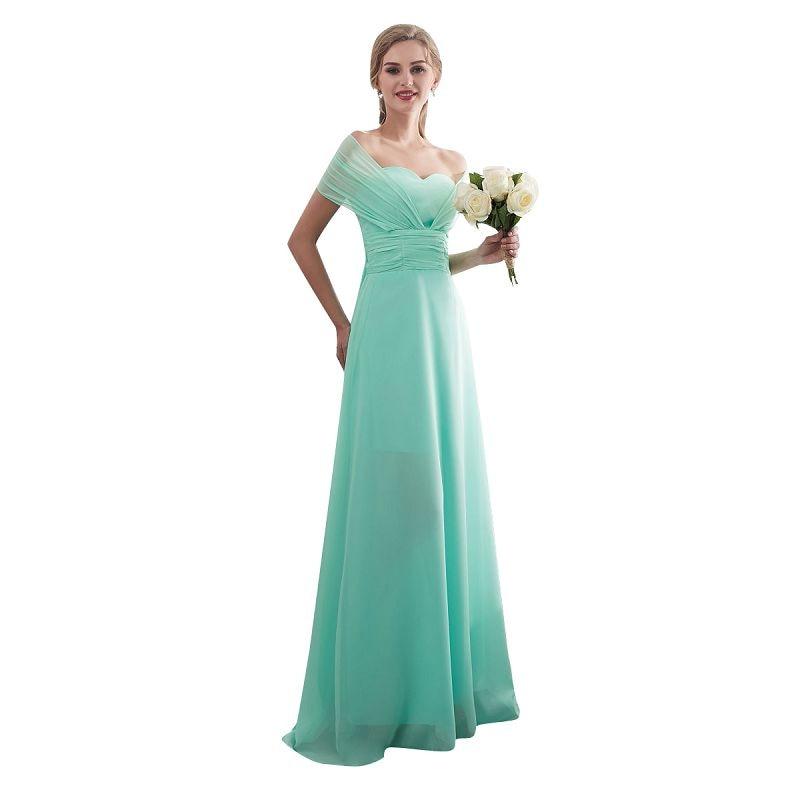 Ljepota-Emily Candy Boja Long-Line djeveruša haljine 2017 Off Sleeve - Vjenčanje večernje haljine - Foto 5