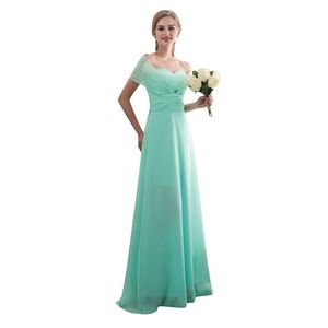 Image 5 - 2020 Candy Color Elegent Long Chiffon A Line Bridesmaid Dresses Vestido da dama de honra wedding party dress Plus size customize