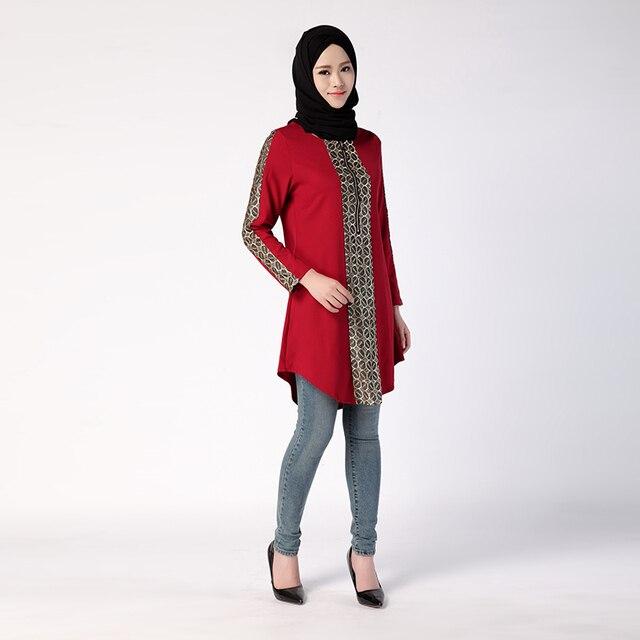 Baru Jilbab Arab Abaya Kaftan Lengan Panjang Wanita Dress Turki Gaya Timur  Tengah Dubai Muslim Wanita 0a92483935