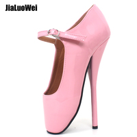 Brand New 8 Sexy Ballet High Heels Shoes High Spike Heel Fetish Sexy Ballet Dancer Pointe Toe Ankle straps Pumps plus size