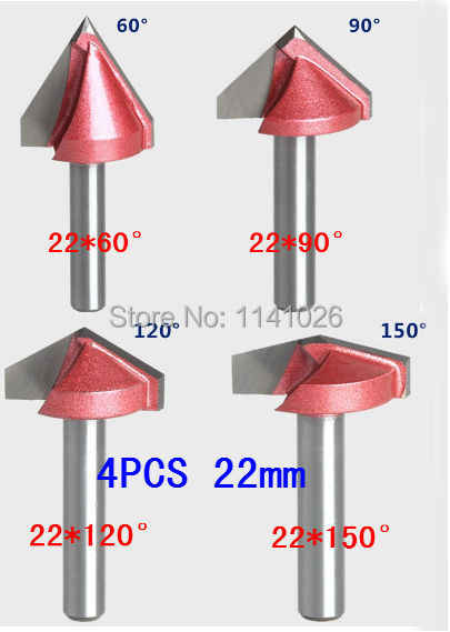 60 90 120 150 Degree 6mm V Router Bit CNC Engraving Woodworking Cutter im