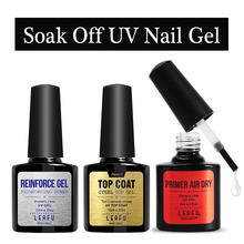 Modelones10ml Reinforcement Gel Polish Nail UV Gel Clear Varnish Lacquer Primer Anastomosis Base Coat No WipeTop Layer Sticky