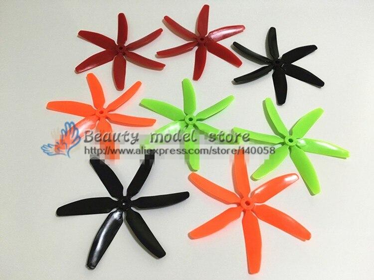 wholesale 100pcs/ 50 pairs 5040 propeller 6 blades for DIY mini race FPV drones QAV180/QAV210 /qav-R220/QAV250 / ZMR250/robocat wdiy motor2204 2300kv qav x qav210  4s
