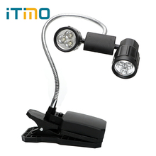 ITimo Reading Table Lamp For Camping Fishing LED Clip Light Adjustable Clip-on Mini LED Book Lights Flexible BBQ Light Bright
