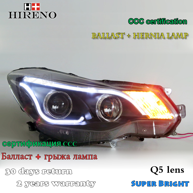 Hireno Headlamp for 2011-2015 Subaru XV Headlight Assembly LED DRL Angel Lens Double Beam HID Xenon 2pcs hireno headlamp for mercedes benz w163 ml320 ml280 ml350 ml430 headlight assembly led drl angel lens double beam hid xenon 2pcs