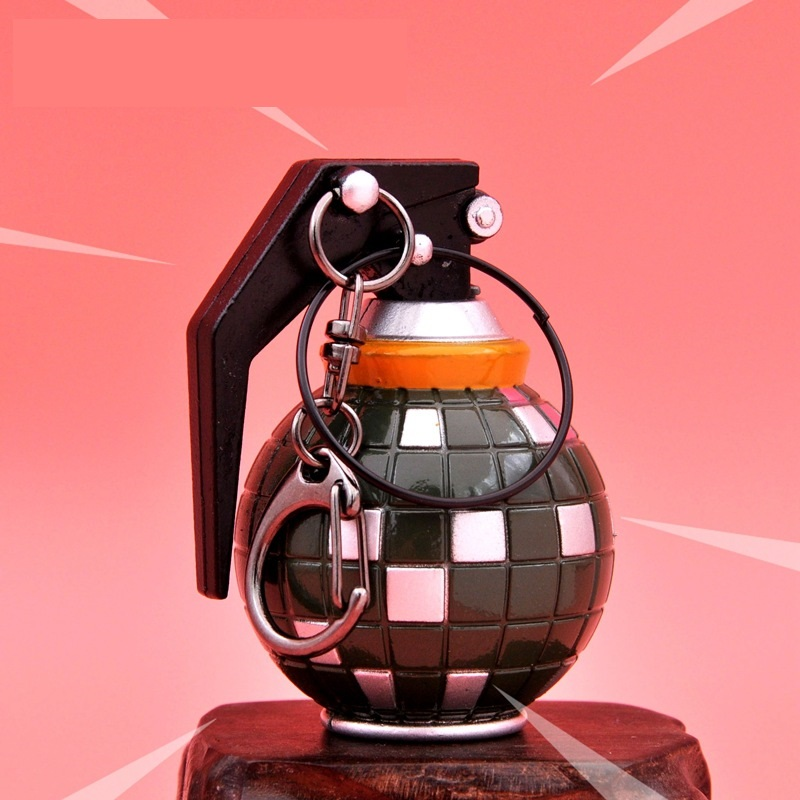Fortnight Battle Royale Alloy Weapon Model 6cm High Action Figure Toys Keychain Easter Birthday  Gift For Friends