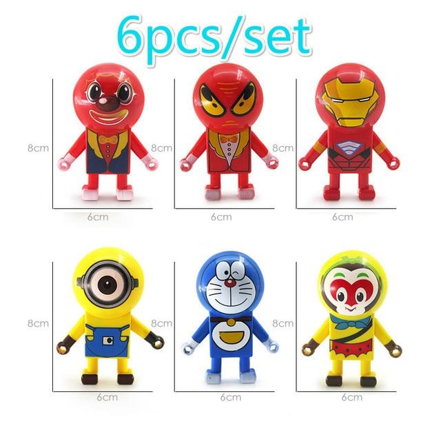 6 pçs/lote Parede Deslizante Spiderman Homem De Ferro Anti-Stress Brinquedos Piadas Engraçado Batman Joker Deslizante Parede Escalada Cool Kids brinquedos