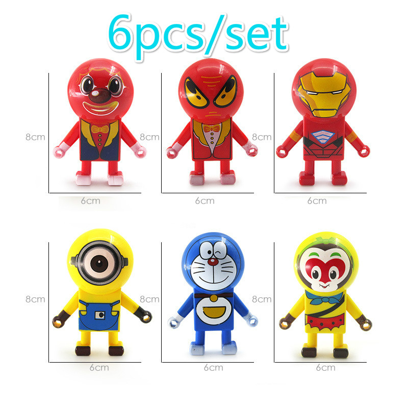 6 pcs/lot Coulissante Spiderman Iron Man Anti-Stress Blagues Jouets Drôle Batman Joker Coulissants Mur D'escalade Cool Enfants jouets