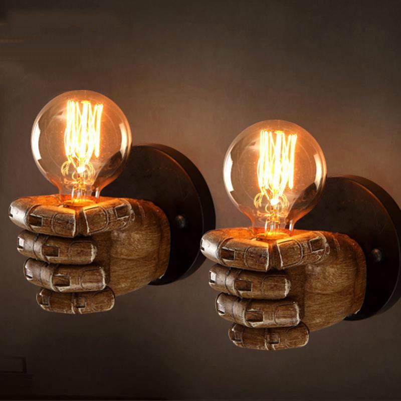 Led Wall Light Arandelas Para Parede Wall Lamp Lights For Home Applique Murale Industrielle  110v 220v E27 Lamps novelty led wall lamps glass ball wall lights for home decor e27 ac220v