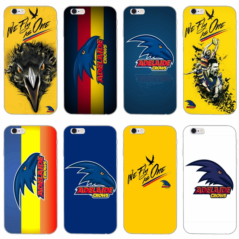 Adelaide Crows slim silicone Soft phone case For Samsung Galaxy S3 S4 S5 S6 S7 edge S8 S9 Plus mini Note 3 4 5 8