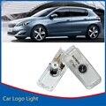 2x Car Door Bienvenido Luz Sombra del Fantasma de la Luz Proyector de la Insignia Del Emblema Para Peugeot RCZ 508 207 406 5008 806 807