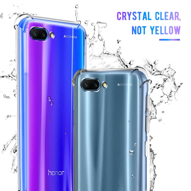 Shockproof Case For Huawei P30 Pro P20 Lite Mate 20X Pro AirBag Soft TPU Clear Case For Honor 8X MAX 8Lite Play 8C 10 Y9 2019