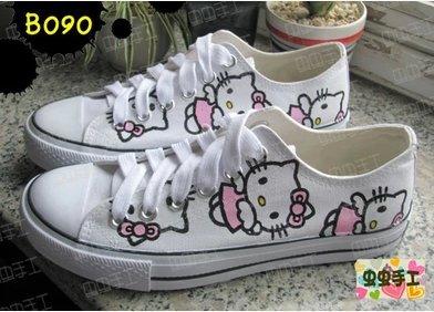 8b94d23c4 Fashion hand drawing/graffiti [HELLO KITTY]cartoon canvas shoes casual shoes  men/women shoes size 35-44,GS_A1436