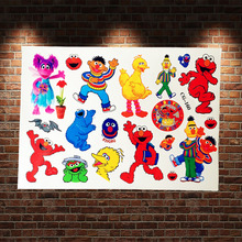 Cartoon Sesame Street Waterproof Tattoo Stickers Kids ACG-160 Elmo Kermit Flash Temporary Tattoo Paste Cookie Monster Bert Tatoo