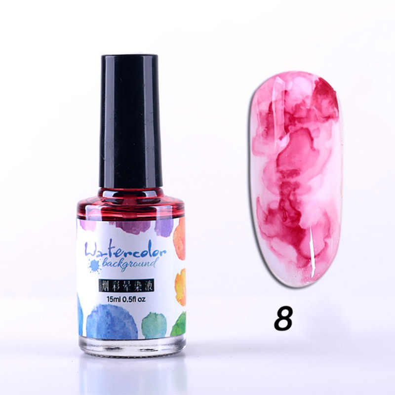 5ml Fast Dry Nail ink smudge Liquid Professional Blooming Gradient DIY Watercolor Smudge Bubble Ink Art Nail Polish NShopping
