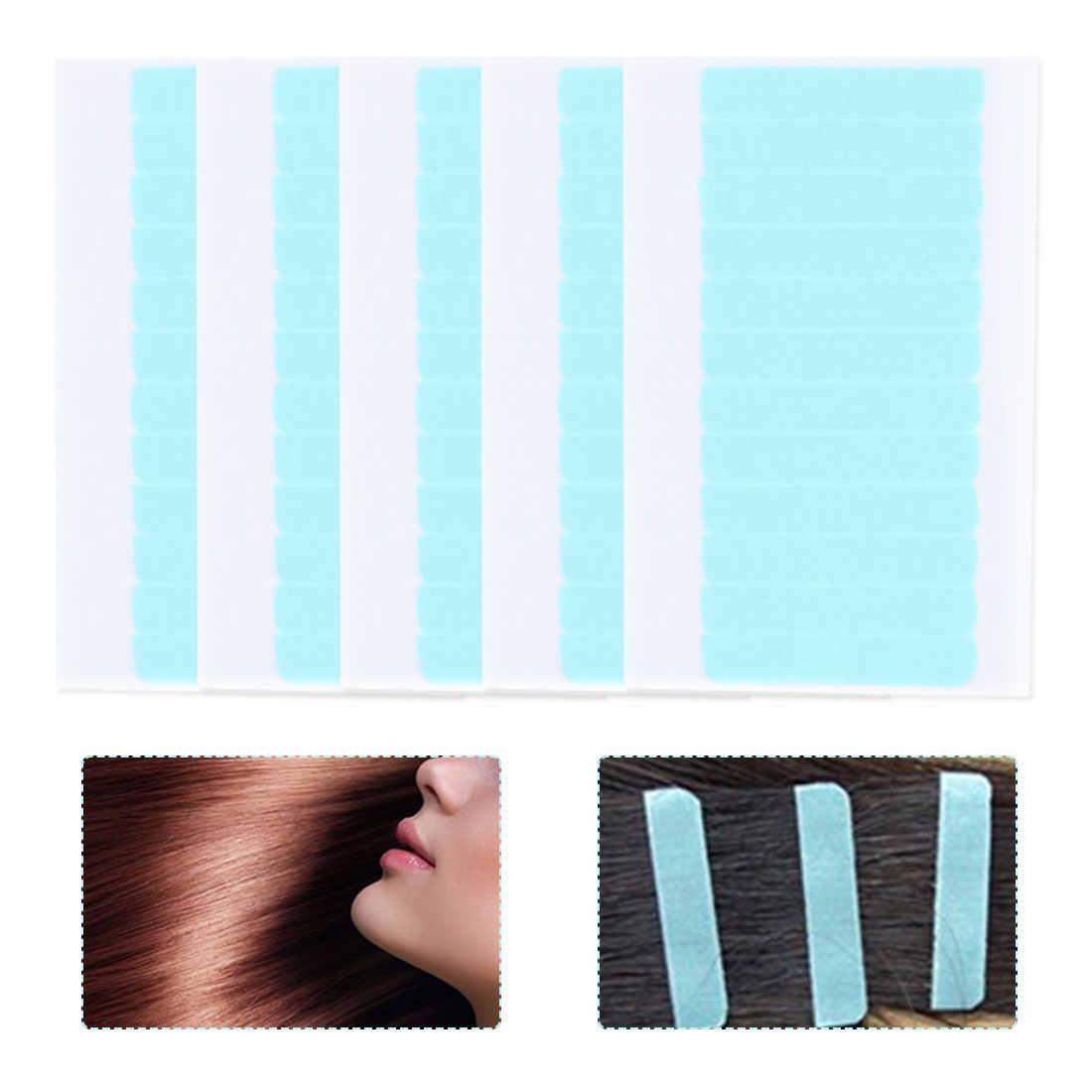 Двухсторонний заменитель водостойкий парик шнурка невидимый бесшовный парик пленка средство для наращивания волос 5 листов 60 шт.