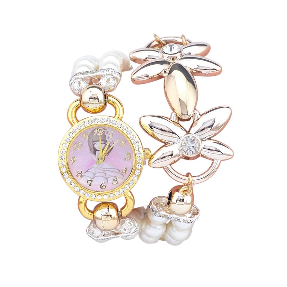 Glitter Crystal Rhinestone Ladies Watch Flower Alloy Fashion Women Wristwatch Quartz Geneva Faux Pearl Dress Watch reloj mujer спот 66688 paulmann