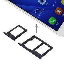 iPartsBuy New SIM Card Tray + Micro SD & SIM Card Tray for Galaxy J5 Prime / G570 & J7 Prime / G610(China)