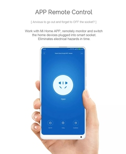 Image 3 - 2019 New Arrive Xiaomi Mijia WiFi Mi Smart Socket Plug WiFi Version Wireless Remote Socket Adaptor Power on and off with phone