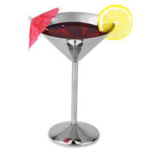 304 Stainless Steel Martini Cocktail Glasses High Quatlity Metal 200ml Multi-functional cocktail goblet