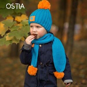 cdae5f232bd OSTIA(服装鞋袜) Hat Scarf Set Baby Boys Girls Cap