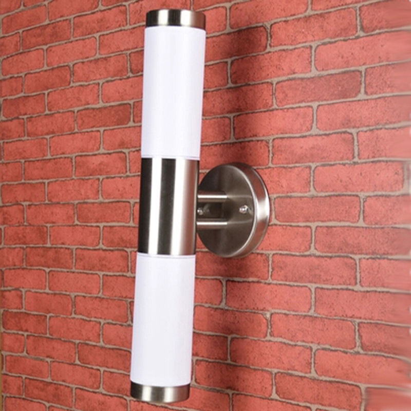 2*5W Waterproof Outdoor Lighting Stainless Steel E27 LED Wall Light IP65 Wall Lamp Porch Lights AC110-265V Warm White,Cold White stainless steel in outdoor waterproof led wall lamp wall spot lamp wall picture lighting for museum shopping mall art gallery